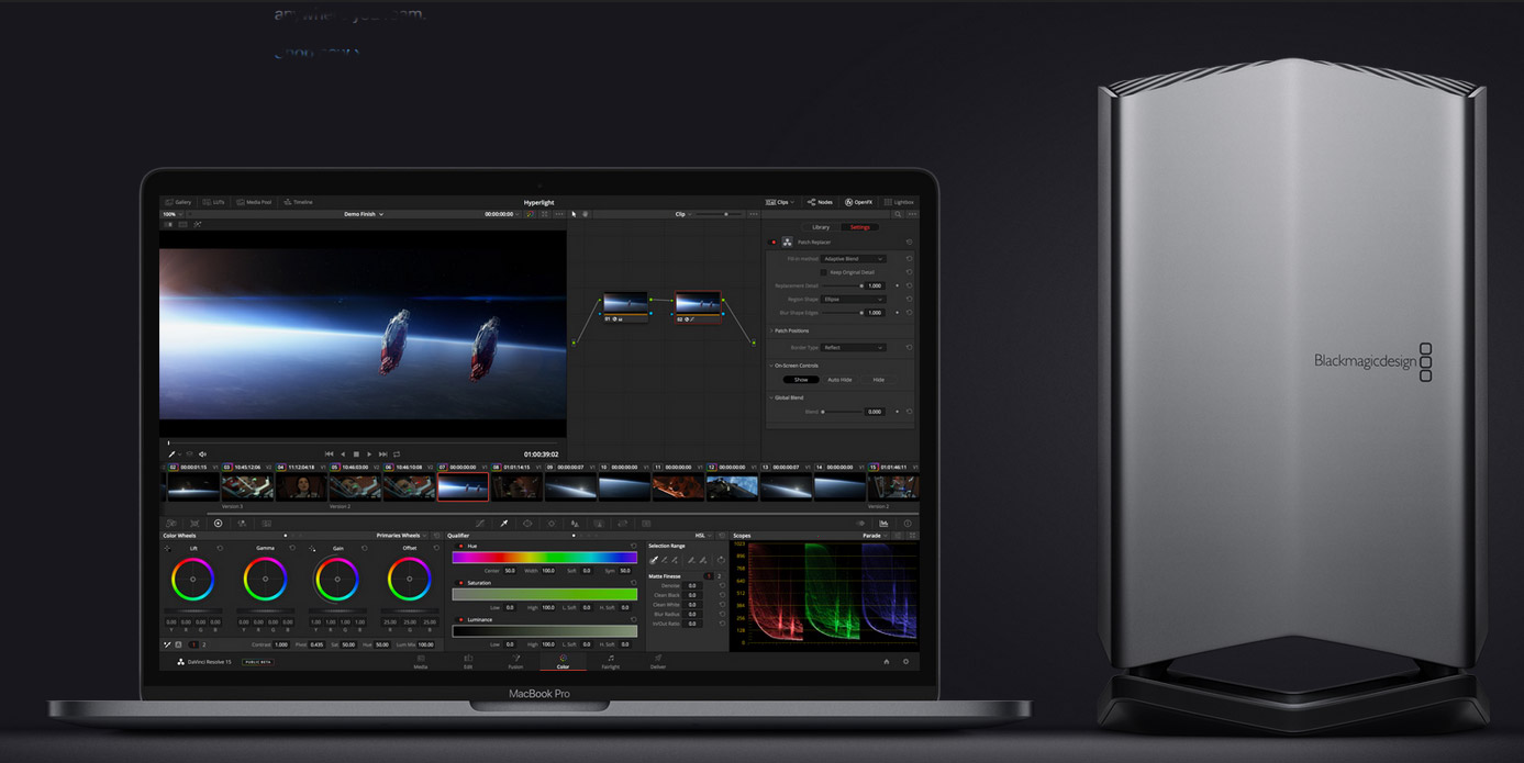 Slashcam News : Blackmagic surprises with eGPU: Thunderbolt