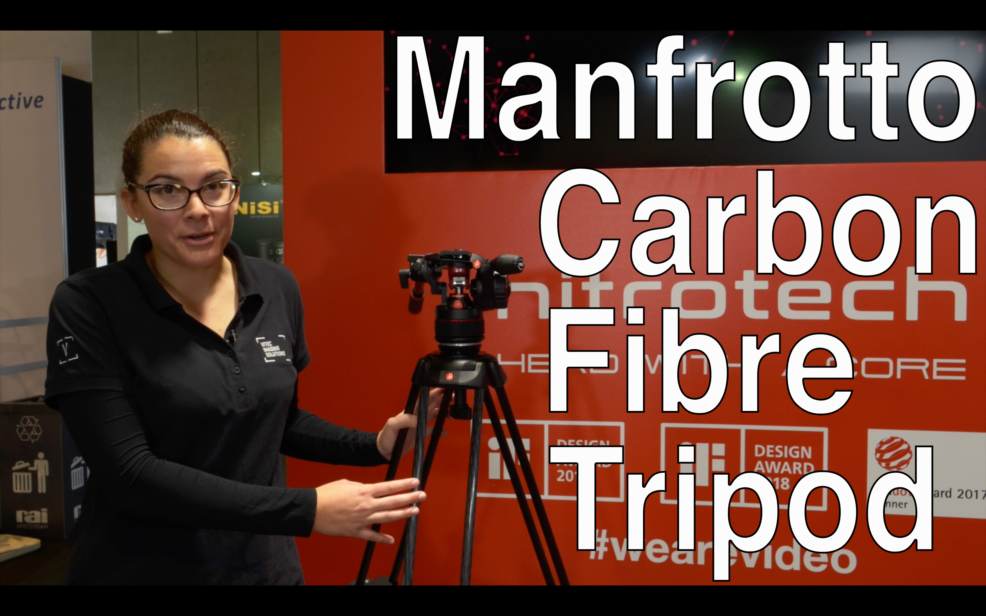 Videointerview: Manfrotto carbon tripod with new locking mechanism, 50% stiffer // IBC2018