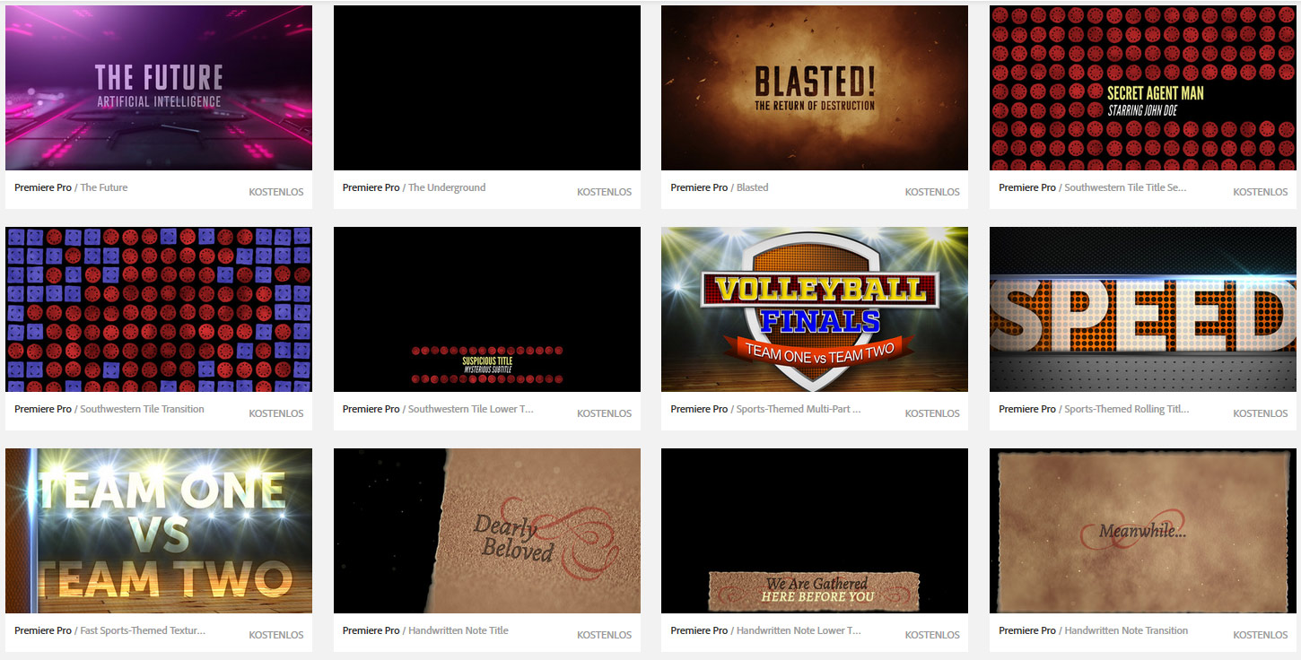 Slashcam news free adobe master artists motion graphics template collection for premiere pro cc for Adobe premiere pro templates free