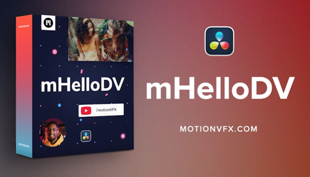 mHello DV: Free MotionVFX effects pack for DaVinci Resolve