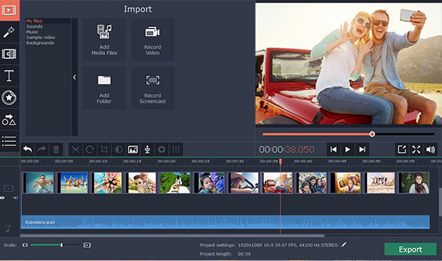 Movavi Video Editor 14 (Plus) with automatic editing