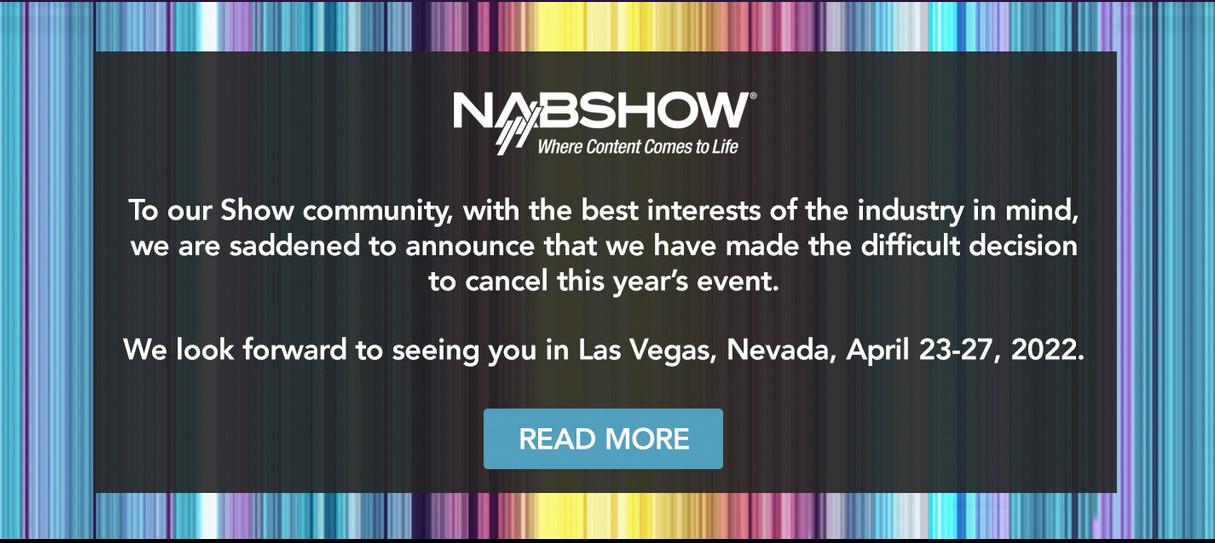 NAB 2021 is canceled