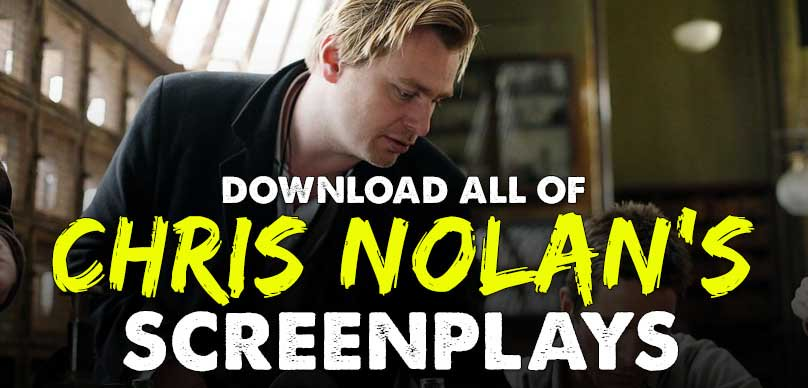Scripts of Christopher Nolan as PDF download