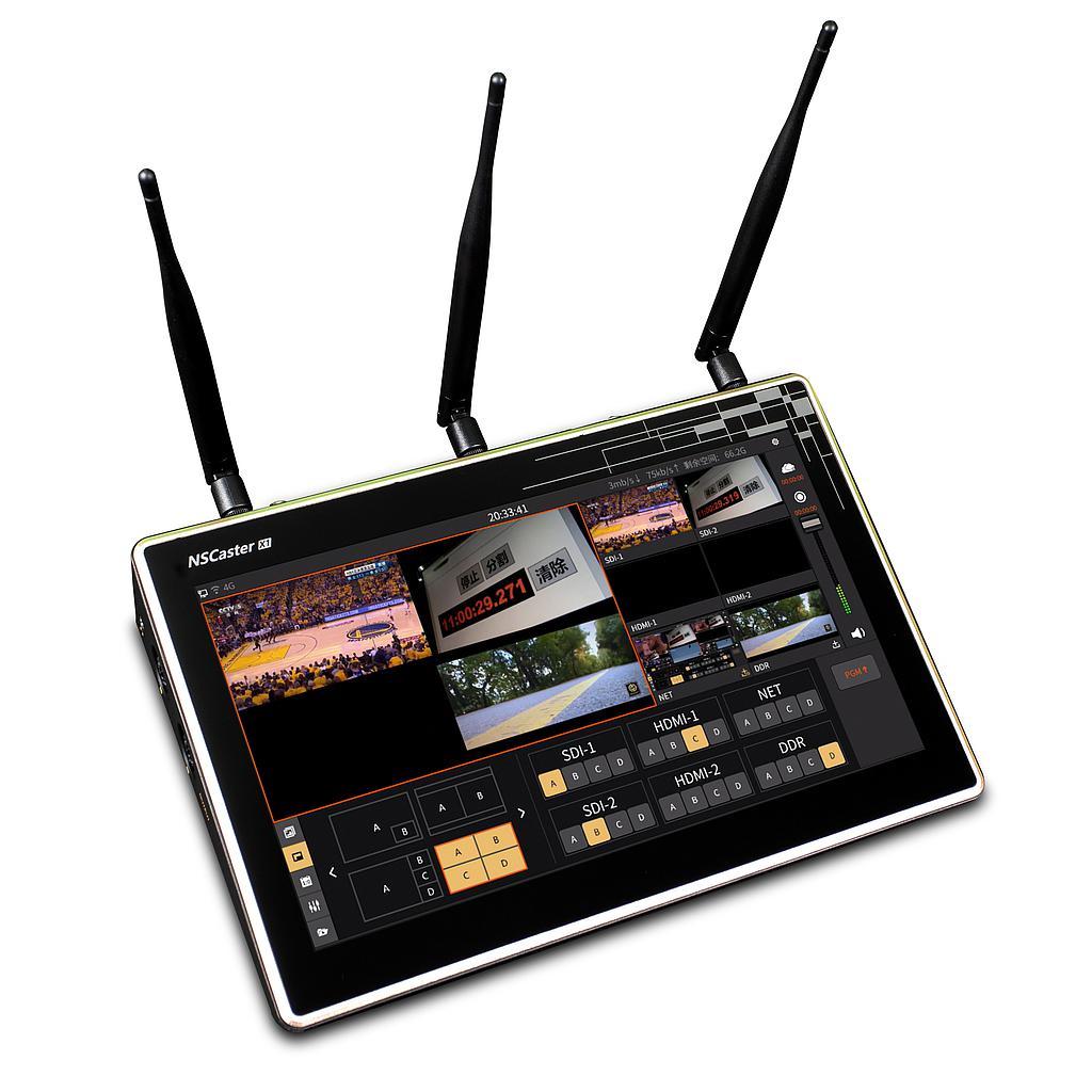 Nagasoft Caster-X1 Live Production Tablet receives NDI HX interface
