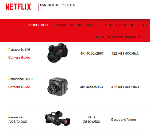 Canon EOS C70 and Panasonic Lumix BGH1 are now Netflix certified