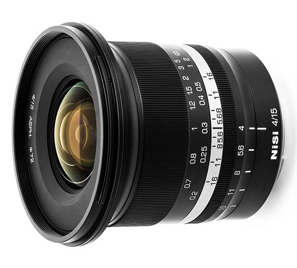 NiSi 15mm F4 - extreme wide angle lens introduced
