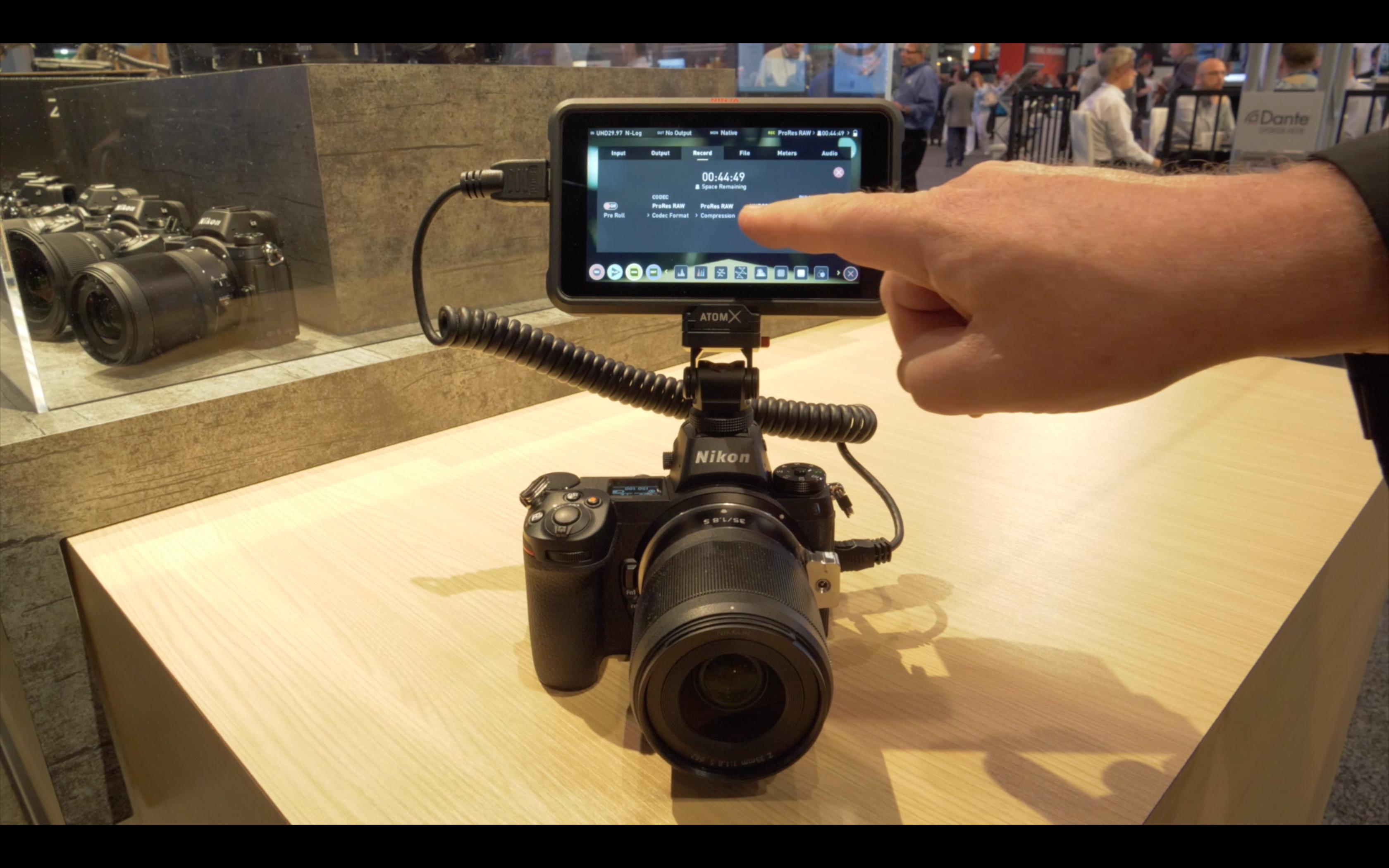 Nikon Z6 and ProRes RAW on the Atomos Ninja V via HDMI // NAB 2019