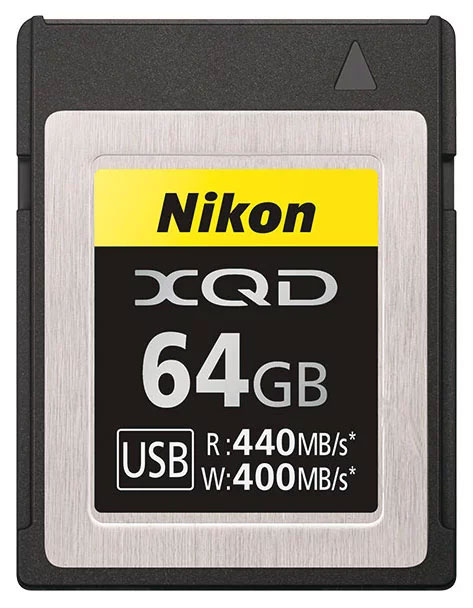 Slashcam News : Nikon unveils own XQD card series - 64 and