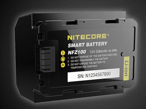 Nitecore NFZ100: Intelligent battery for Sony Alpha 7/9 cameras with own App