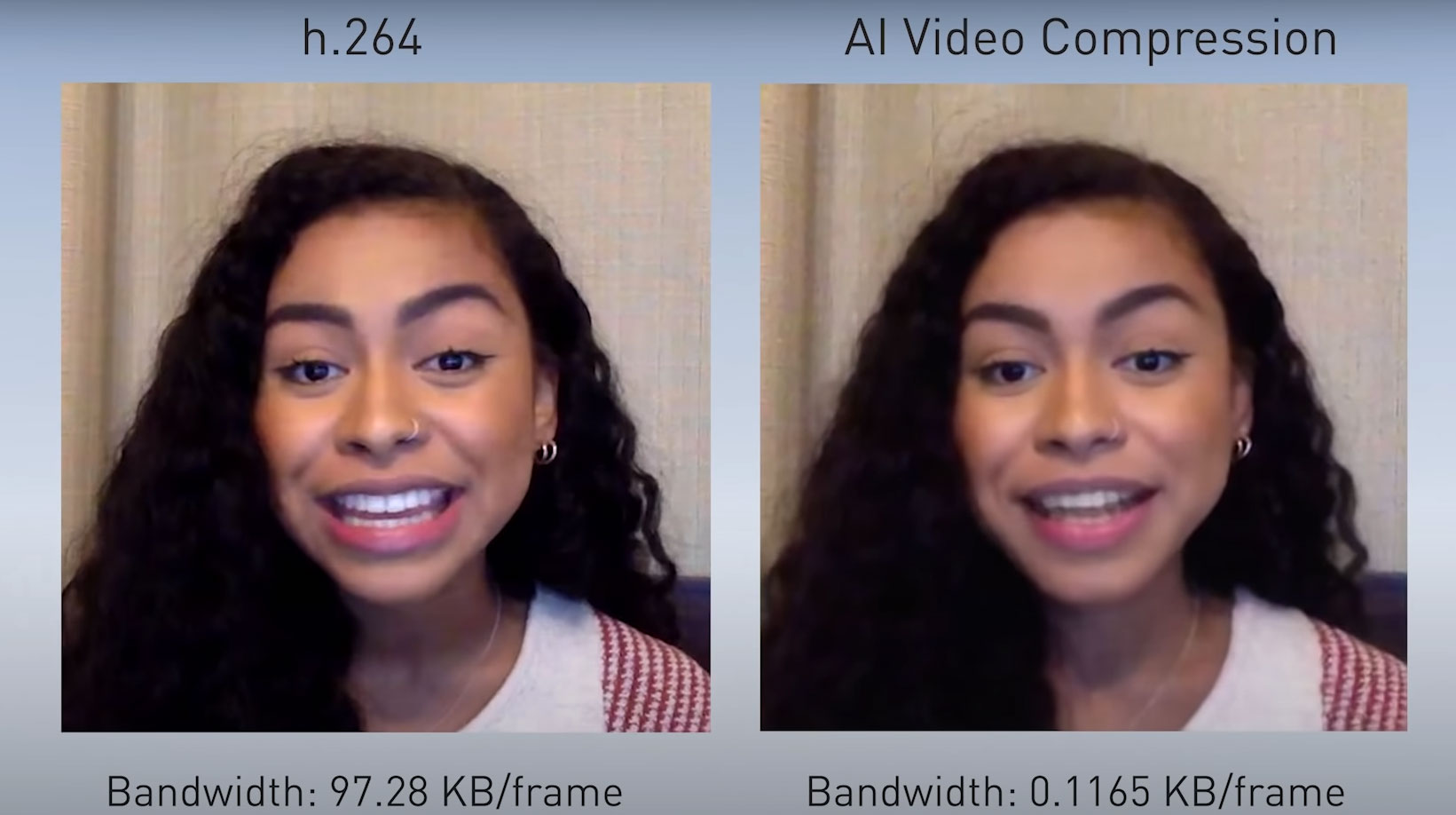 Nvidia AI Video Compression saves streaming data rate with artificial intelligence