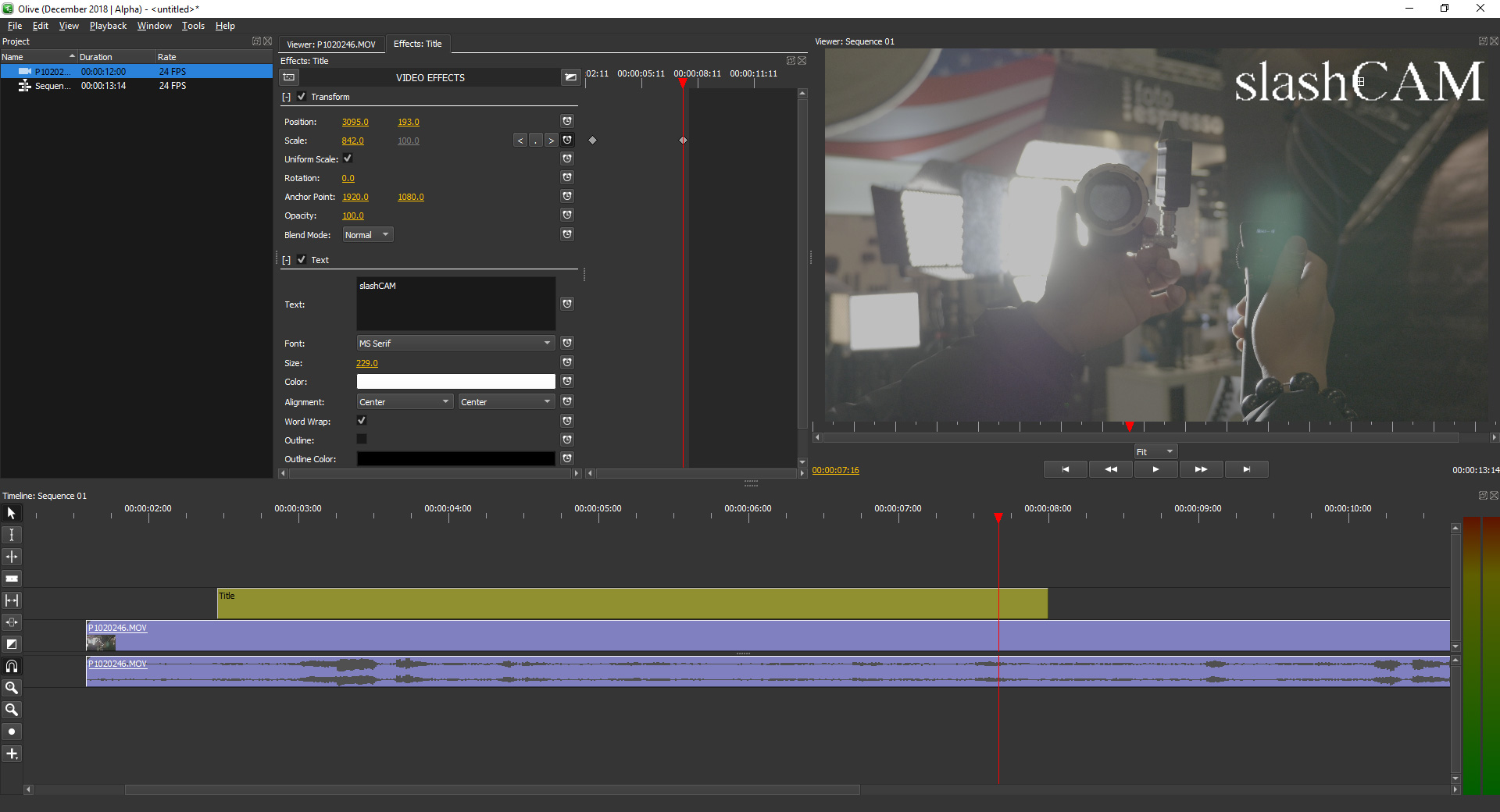 Olive - fresh open source video editor with professional standards