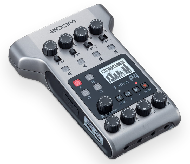 Zoom-PodTrak-Podcasting-Recorder P4 and ZDM-1 Podcast Mic Pack