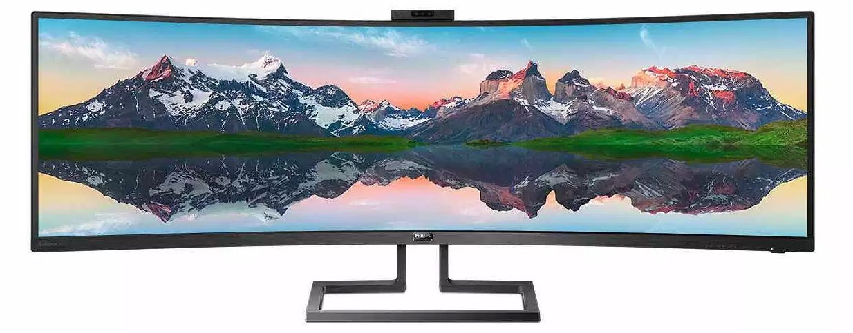 Philips 499P9H: Super Wide Curved 49 Inch 5K Monitor in 32:9 Format with 121% sRGB