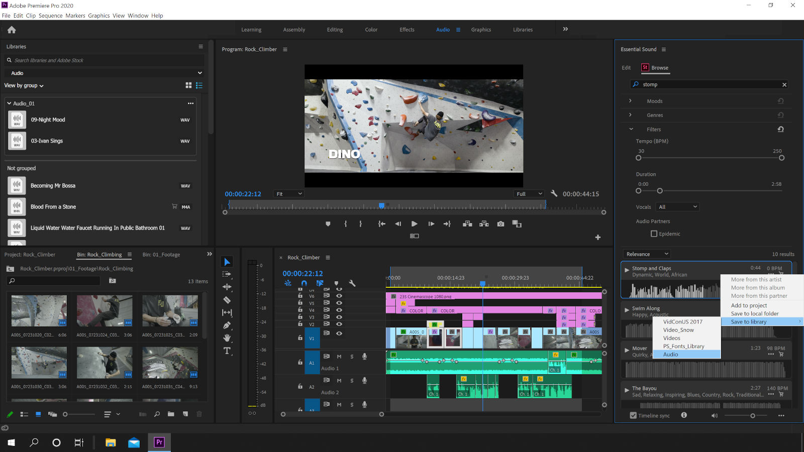 June update: Adobe Premiere Pro CC integrates stock audio libraries for easy licensing