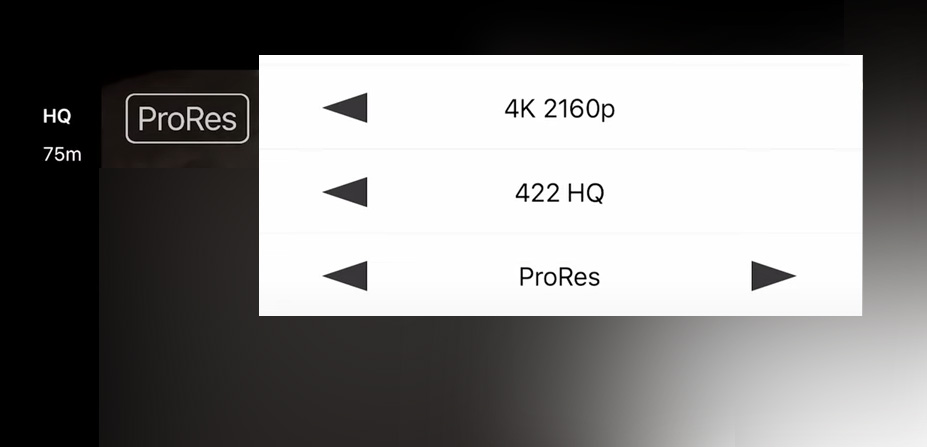 FiLMiC Pro v6.17 already supports ProRes recording on iPhone 13 Pro + Max