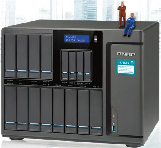 QNAP shows 16 Bay and Thunderbolt 3 NAS Systems // CES 2017