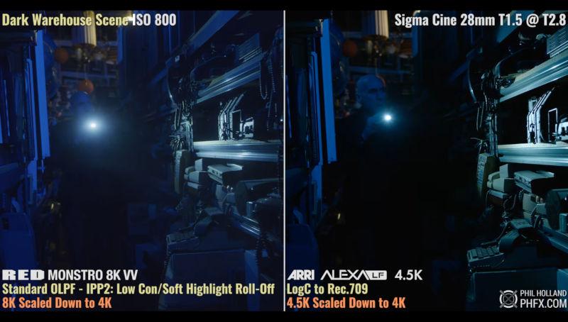 Large Format Cine Kameras Red Monstro 8k Vv Und Arri Alexa Lf 45k