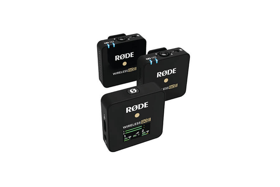 RØDE Wireless Go II: compact solution for 2-channel wireless video sound with two transmitters