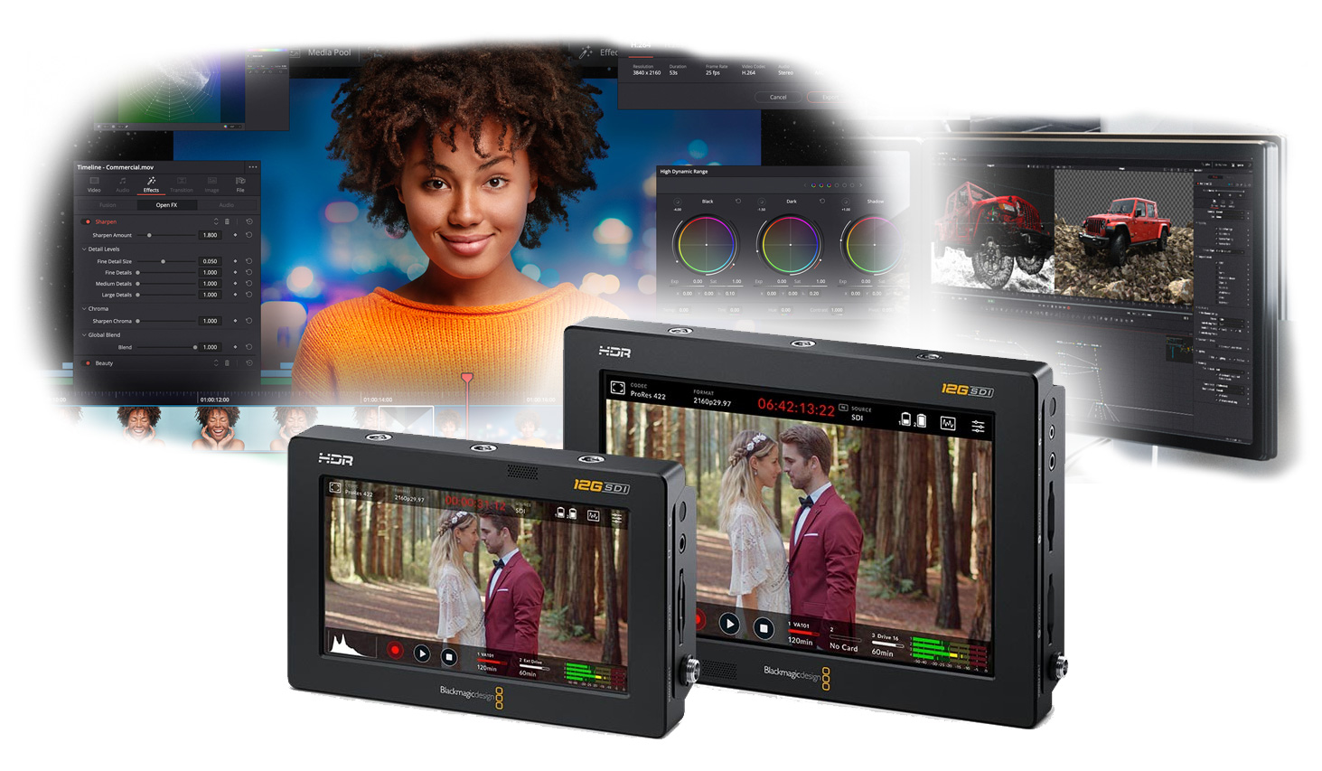 Updates for Blackmagic Video Assist (3.5) , as well as DaVinci Resolve and Fusion (17.3.2.)