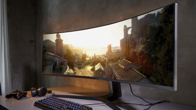 Samsung CRG9: ultra wide Curved 49