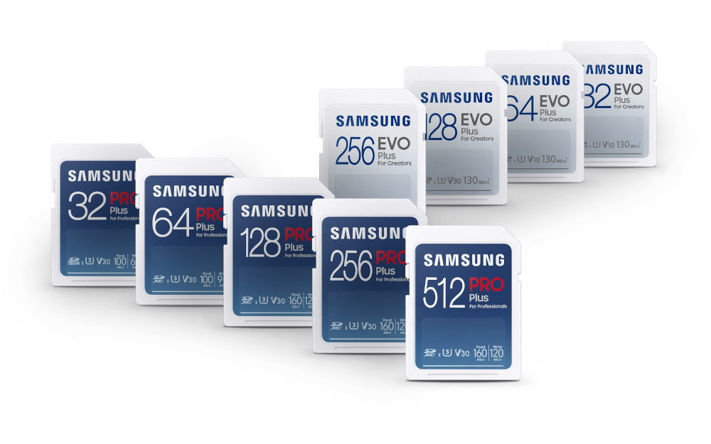 Samsung: New Pro Plus and Evo Plus microSD/SD cards with up to 160 MB/s