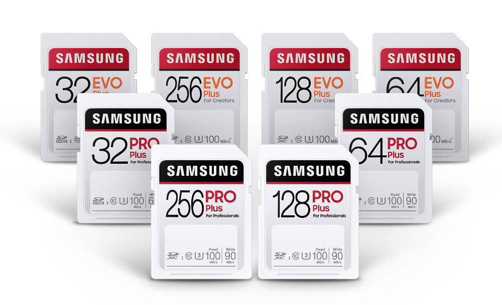 Samsung: New PRO Plus and EVO Plus SDXC memory cards