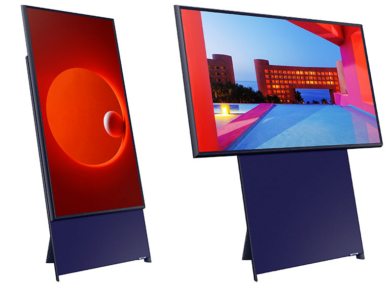 Vertical Video for the living room -- Samsung introduces rotating TV