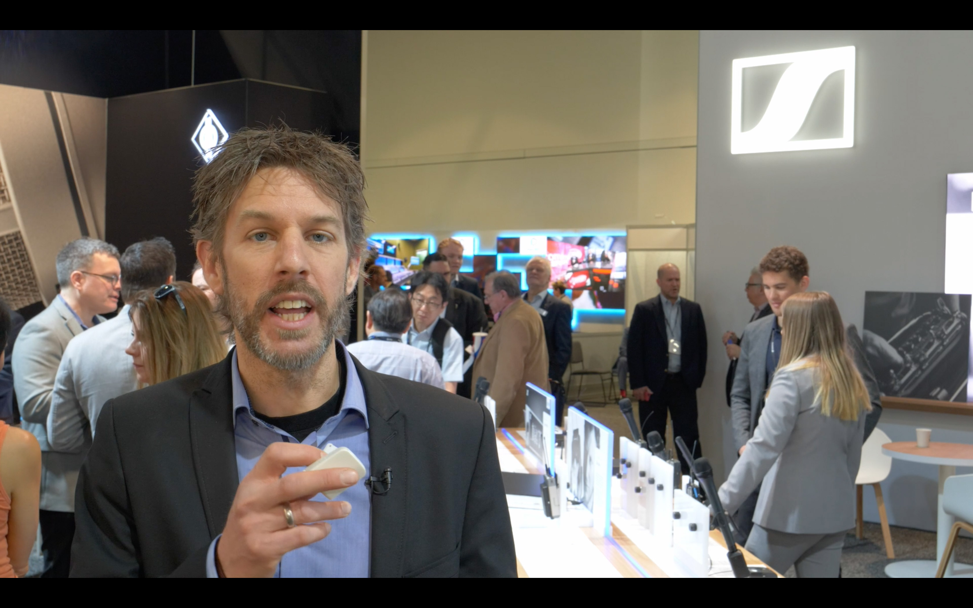 Trade fair video: Wireless audio solution for smartphone: Sennheiser Memory Mike // NAB 2018