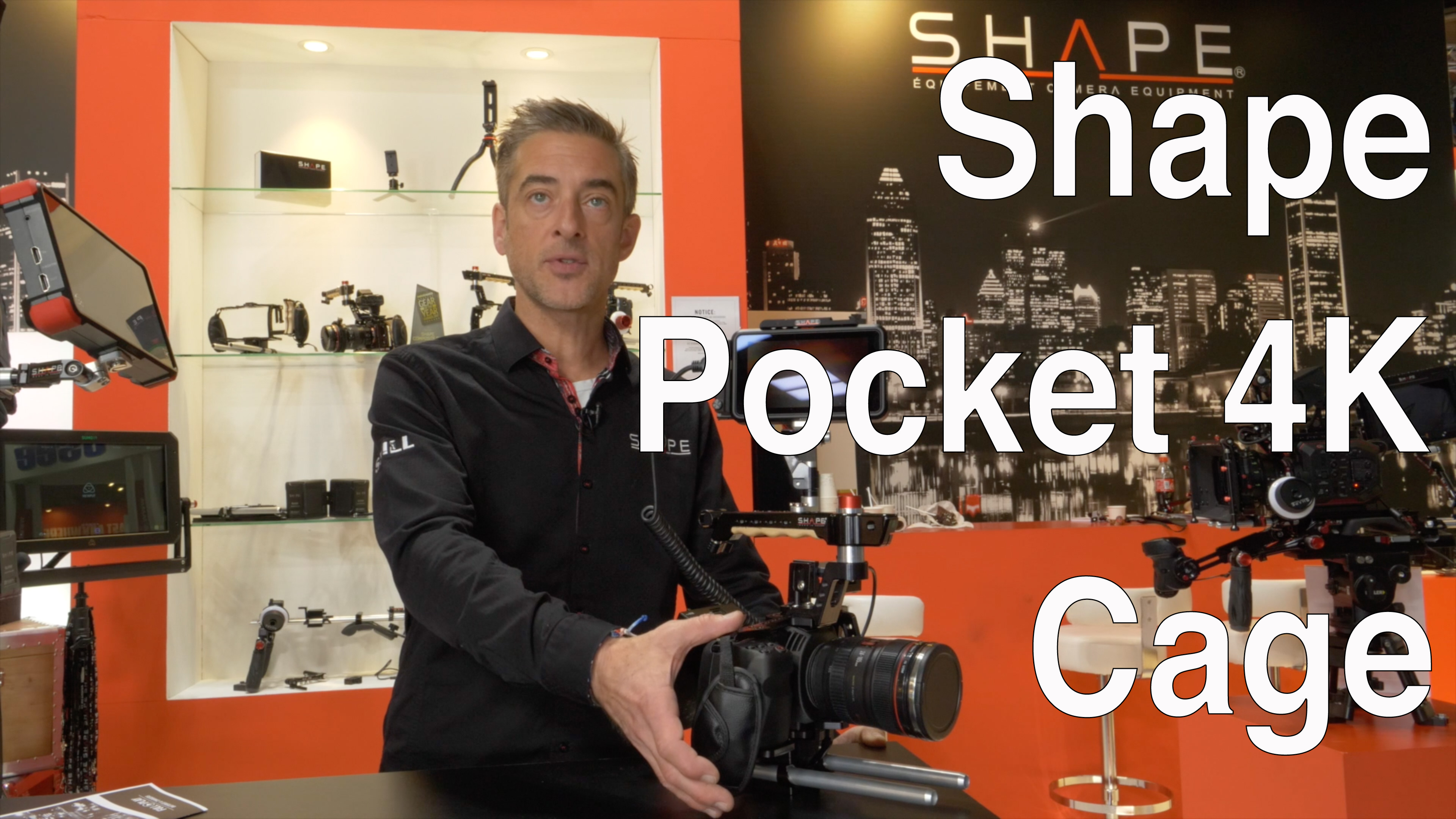 Video interview: Shape: Blackmagic Pocket 4K Cage incl. Metabones and SSD support // IBC 2018