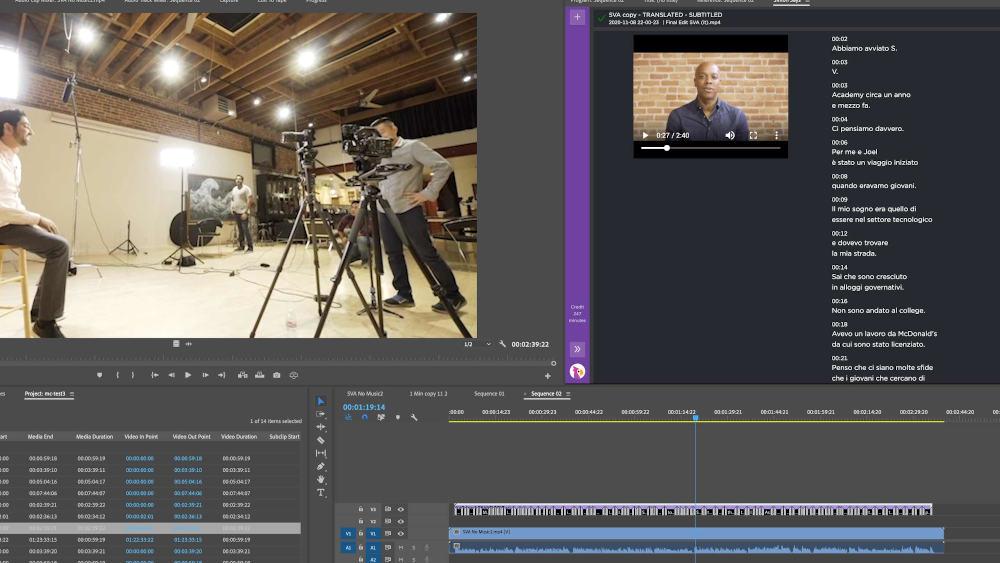 Simon Says : Audio transcription via AI now available in Adobe Premiere Pro