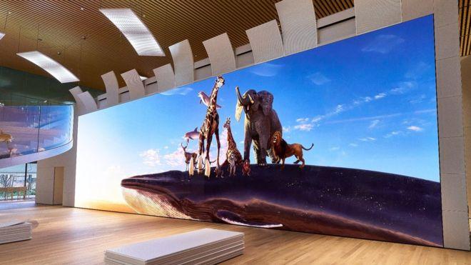Sony shows 16K video wall // NAB 2019