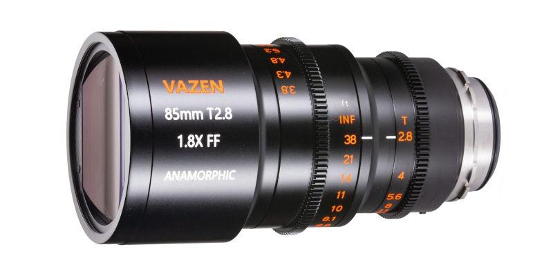 Vazen 85mm T2.8 1.8x anamorphic lens for full frame announced