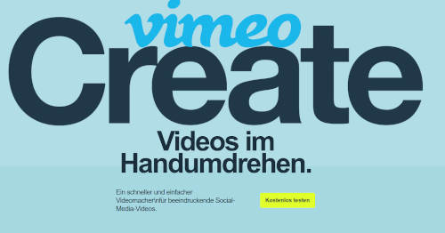 Vimeo Create: Quickly produce clips for social media