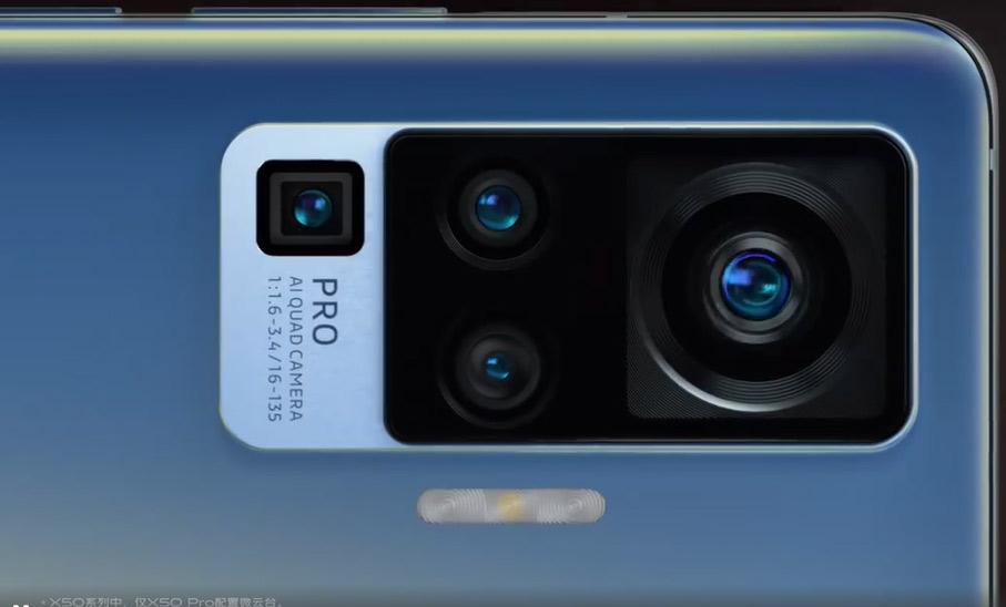 Vivo X50: the first smartphone with built-in gimbal camera?