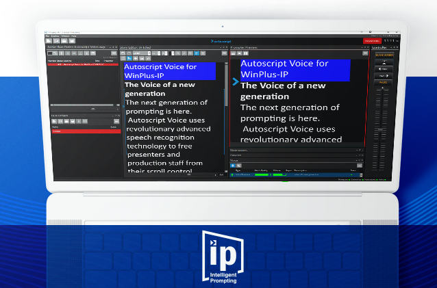 Autoscript Voice: The Intelligent Teleprompter listens and scrolls along independently
