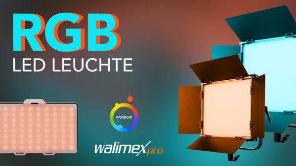 New: Walimex pro Rainbow LED RGBW Soft Panels 50W, 100W and Pocket