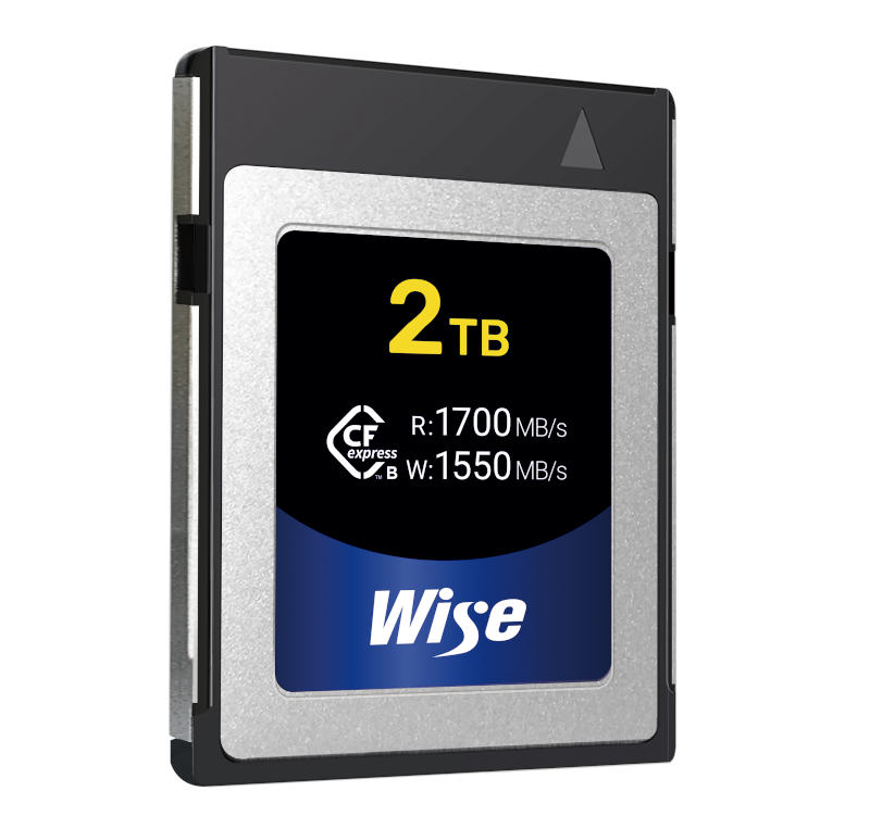 Wise 2 TB CFexpress card with 1,550 MB/s mnaximum write speed