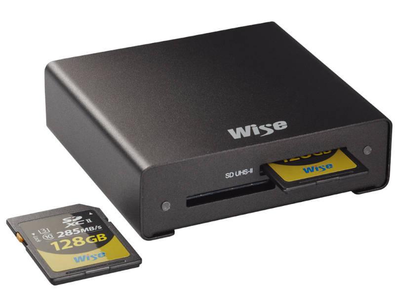 Wise Dual SD UHS-II Kartenleser u.a. für Canon C70, Panasonic GH5 II und Sony Alpha 1