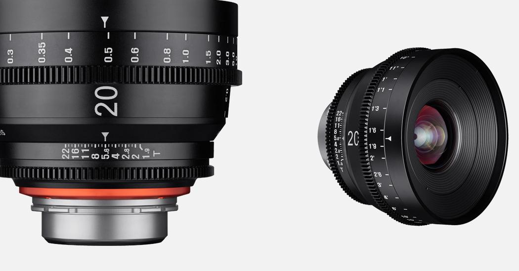 Samyang ergänzt XEEN Vollformat Cine Objektive um 20mm T1.9