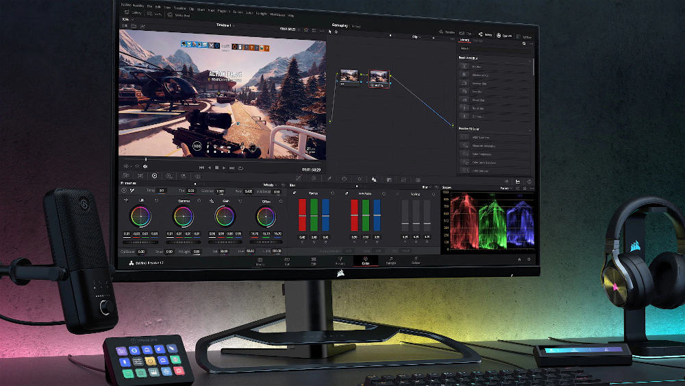 Corsair XENEON 32QHD165 monitor: 100% sRGB and AdobeRGB and 98% DCI-P3 color space coverage