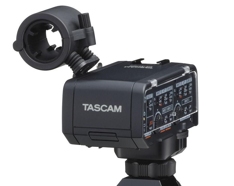 Tascam announces XLR audio adapters for Canon, Nikon and Fujifilm DSLMs
