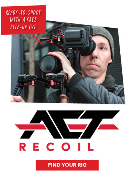 Zacuto shrinks Cine Recoil shoulder rigs to ACT Recoil for DSLM/DSLR