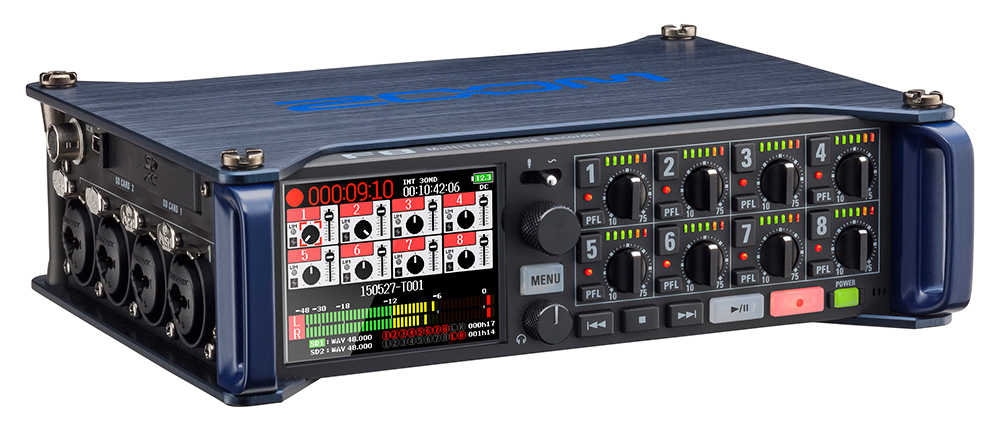 Firmware 5.0 for Zoom Audio Recorder F8 brings many new features