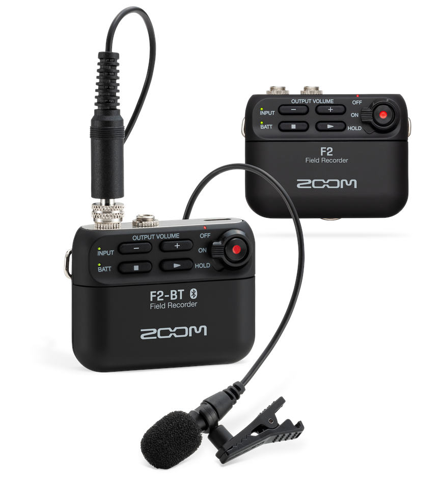 Zoom F2 Field Recorder - extra small with 32-bit float technology