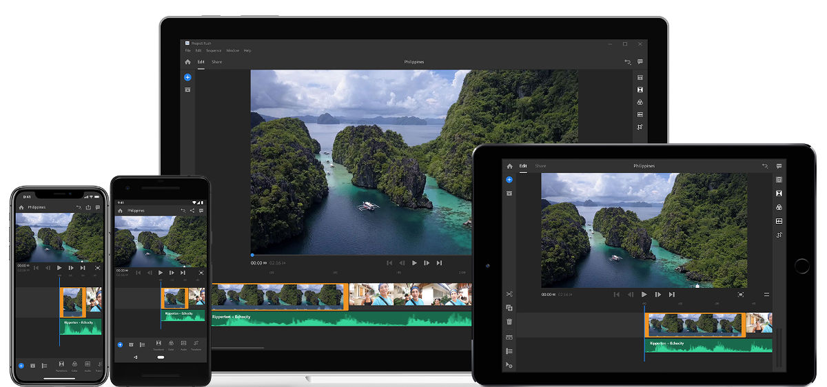 Adobe Premiere Rush CC -- new App for mobile video editing available