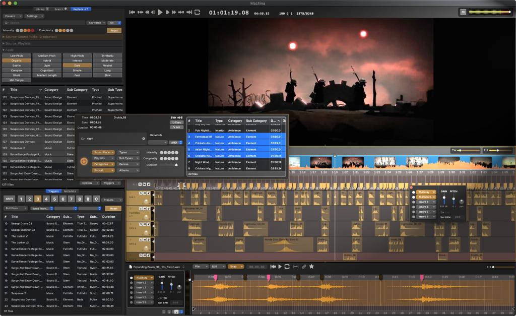 Audio Design Desk: New real-time editing of sound effects in the timeline