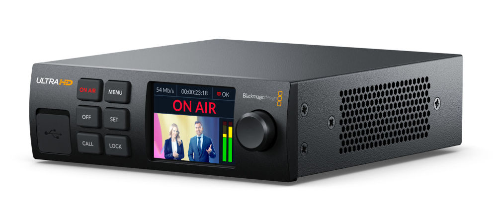 Blackmagic Web Presenter 4K: UltraHD live streaming from SDI to via USB, Ethernet, or cellular