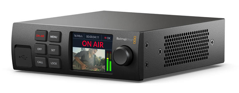 Blackmagic Web Presenter HD: Live streaming via H.264 for SDI cameras