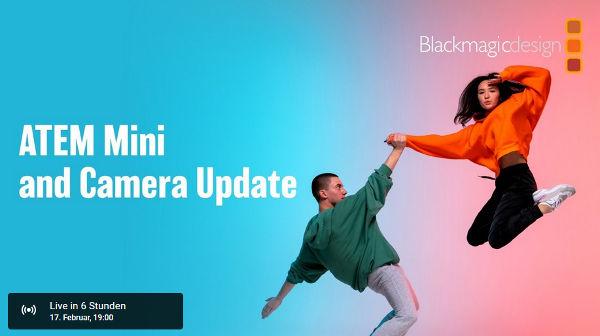 Today Blackmagic will reveal Atem Mini and Camera Updates per Live Stream