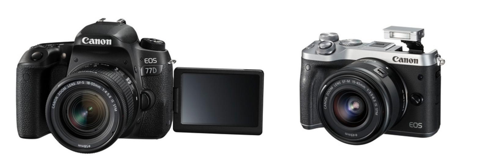 Neue Canon EOS 77D, 800D und M6 - Alle mit DualPixel, keiner mit 4K